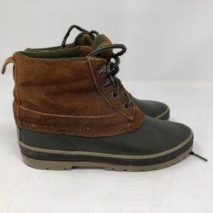 land rover leather duck boots womens sz 6